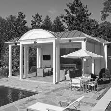 A Contemporary Pool Cabana